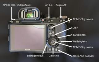Sony A7 3 Tastenbelegung